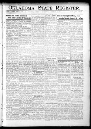 Primary view of object titled 'Oklahoma State Register. (Guthrie, Okla.), Vol. 18, No. 42, Ed. 1 Thursday, December 30, 1909'.