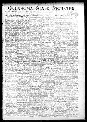 Primary view of object titled 'Oklahoma State Register. (Guthrie, Okla.), Vol. 18, No. 50, Ed. 1 Thursday, March 3, 1910'.
