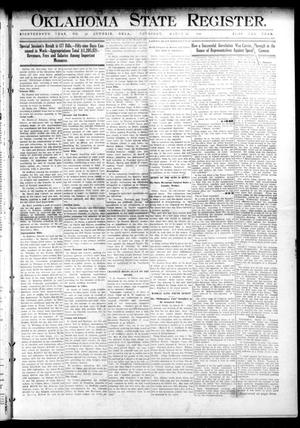 Primary view of object titled 'Oklahoma State Register. (Guthrie, Okla.), Vol. 18, No. 53, Ed. 1 Thursday, March 24, 1910'.