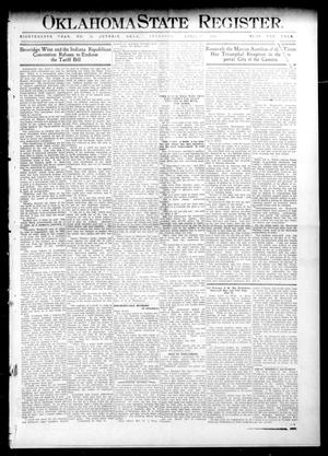 Primary view of object titled 'Oklahoma State Register. (Guthrie, Okla.), Vol. 18, No. 55, Ed. 1 Thursday, April 7, 1910'.