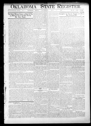 Primary view of object titled 'Oklahoma State Register. (Guthrie, Okla.), Vol. 19, No. 3, Ed. 1 Thursday, May 5, 1910'.