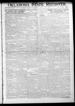 Primary view of object titled 'Oklahoma State Register. (Guthrie, Okla.), Vol. 19, No. 5, Ed. 1 Thursday, May 19, 1910'.
