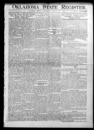 Primary view of object titled 'Oklahoma State Register. (Guthrie, Okla.), Vol. 19, No. 7, Ed. 1 Thursday, June 2, 1910'.