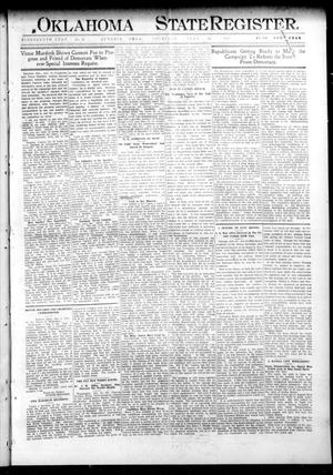 Primary view of object titled 'Oklahoma State Register. (Guthrie, Okla.), Vol. 19, No. 15, Ed. 1 Thursday, July 21, 1910'.