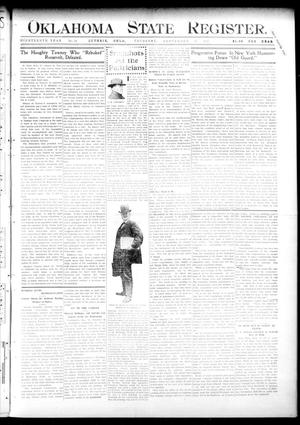 Primary view of object titled 'Oklahoma State Register. (Guthrie, Okla.), Vol. 19, No. 24, Ed. 1 Thursday, September 22, 1910'.