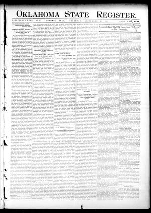 Oklahoma State Register. (Guthrie, Okla.), Vol. 19, No. 25, Ed. 1 Thursday, September 29, 1910