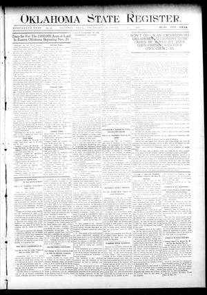Primary view of object titled 'Oklahoma State Register. (Guthrie, Okla.), Vol. 19, No. 29, Ed. 1 Thursday, October 27, 1910'.