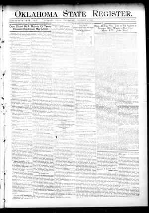 Primary view of object titled 'Oklahoma State Register. (Guthrie, Okla.), Vol. 19, No. 31, Ed. 1 Thursday, November 10, 1910'.