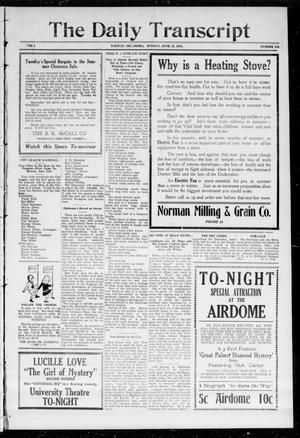 The Daily Transcript  (Norman, Okla.), Vol. 1, No. 276, Ed. 1 Monday, June 22, 1914