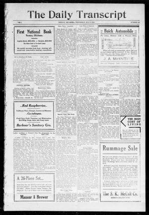 Primary view of object titled 'The Daily Transcript  (Norman, Okla.), Vol. 1, No. 287, Ed. 1 Wednesday, July 8, 1914'.