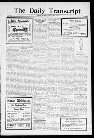 Primary view of object titled 'The Daily Transcript  (Norman, Okla.), Vol. 2, No. 86, Ed. 1 Tuesday, September 15, 1914'.