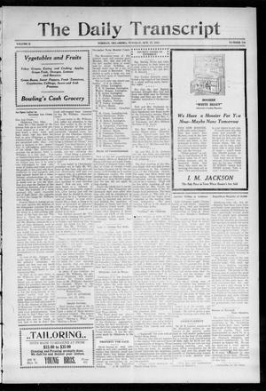 Primary view of object titled 'The Daily Transcript  (Norman, Okla.), Vol. 2, No. 116, Ed. 1 Tuesday, October 27, 1914'.