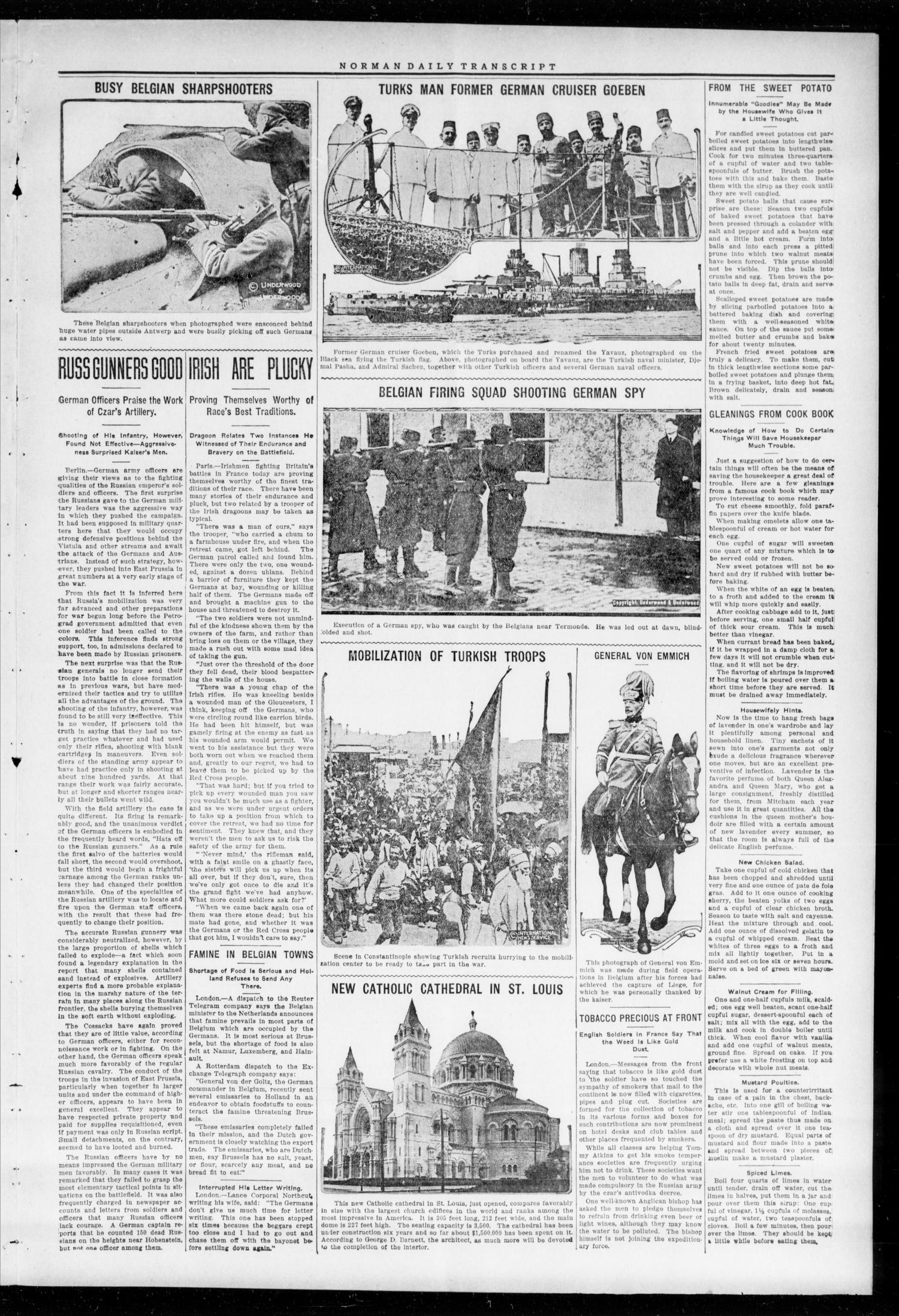 The Daily Transcript  (Norman, Okla.), Vol. 2, No. 130, Ed. 1 Monday, November 16, 1914                                                                                                      [Sequence #]: 3 of 4