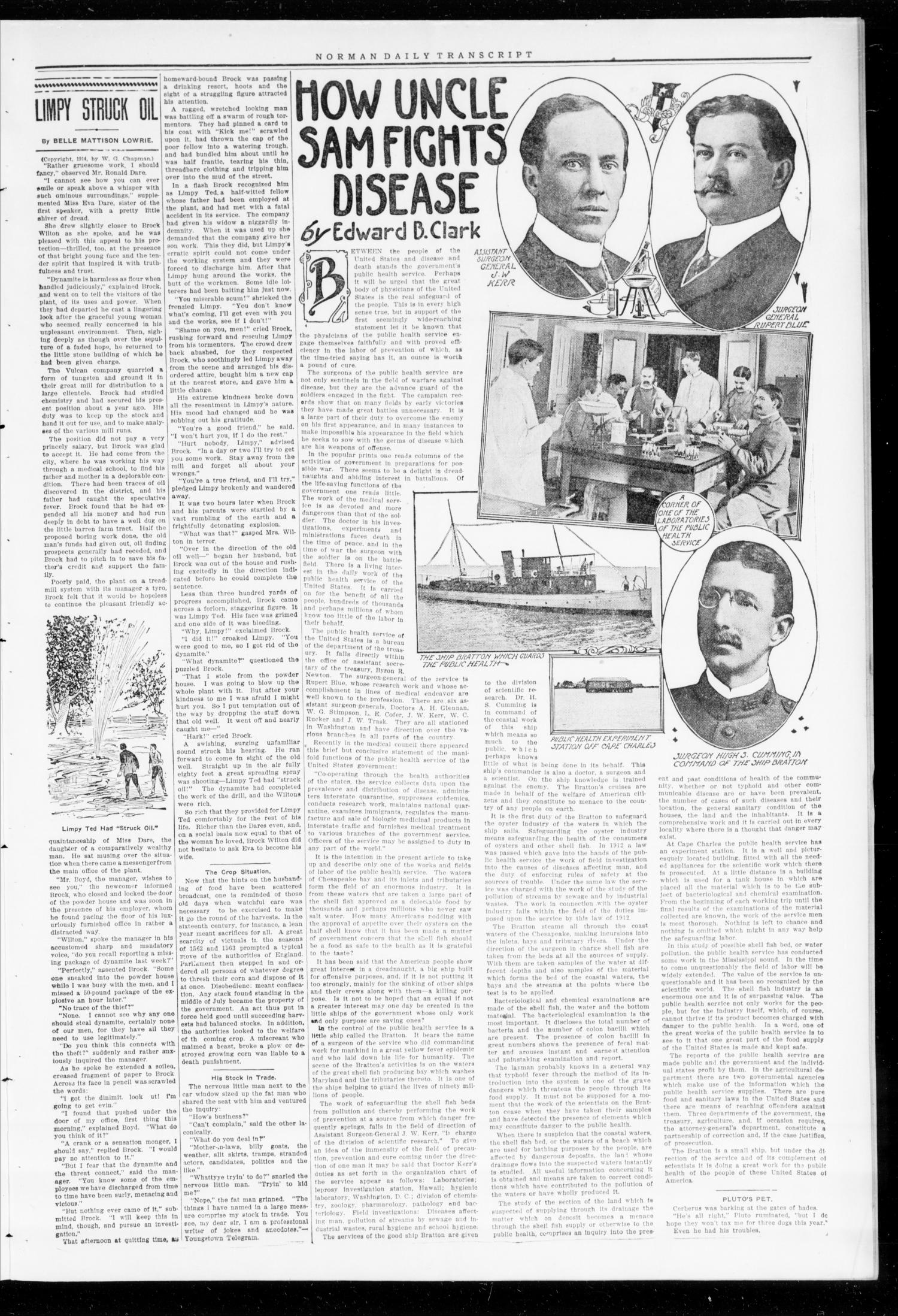 The Daily Transcript  (Norman, Okla.), Vol. 2, No. 157, Ed. 1 Wednesday, December 23, 1914                                                                                                      [Sequence #]: 3 of 4