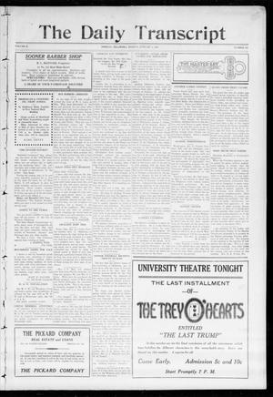 Primary view of object titled 'The Daily Transcript  (Norman, Okla.), Vol. 2, No. 164, Ed. 1 Monday, January 4, 1915'.