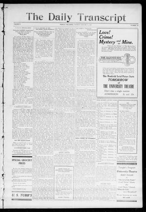 The Daily Transcript  (Norman, Okla.), Vol. 2, No. 169, Ed. 1 Monday, January 11, 1915