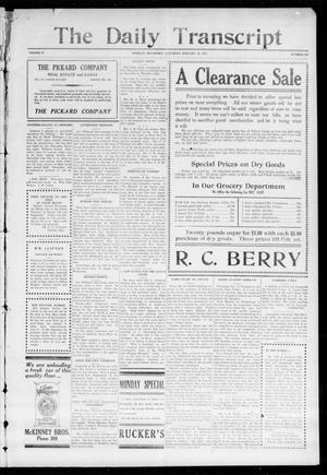 The Daily Transcript  (Norman, Okla.), Vol. 2, No. 173, Ed. 1 Saturday, January 16, 1915