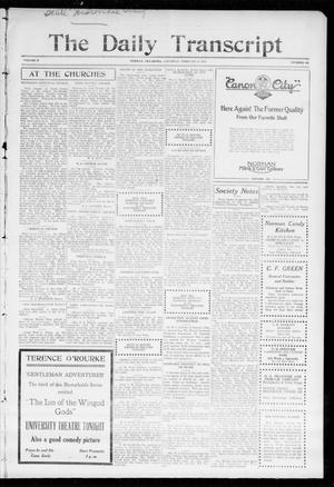 Primary view of object titled 'The Daily Transcript  (Norman, Okla.), Vol. 2, No. 188, Ed. 1 Saturday, February 6, 1915'.