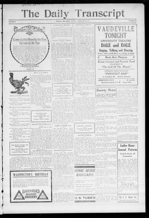 The Daily Transcript  (Norman, Okla.), Vol. 2, No. 189, Ed. 1 Monday, February 22, 1915