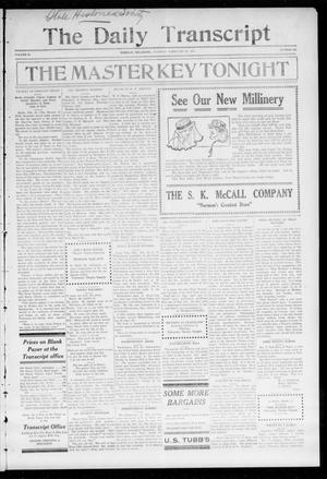 The Daily Transcript  (Norman, Okla.), Vol. 2, No. 190, Ed. 1 Tuesday, February 23, 1915