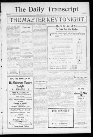 Primary view of object titled 'The Daily Transcript  (Norman, Okla.), Vol. 2, No. 205, Ed. 1 Tuesday, March 16, 1915'.