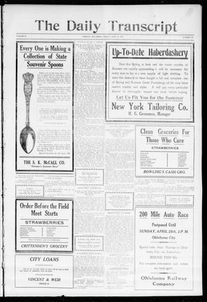 Primary view of The Daily Transcript  (Norman, Okla.), Vol. 2, No. 232, Ed. 1 Friday, April 23, 1915