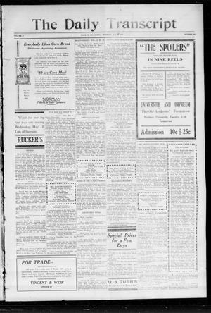 Primary view of object titled 'The Daily Transcript  (Norman, Okla.), Vol. 2, No. 245, Ed. 1 Tuesday, May 11, 1915'.