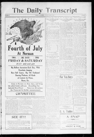 The Daily Transcript  (Norman, Okla.), Vol. 1, No. 14, Ed. 1 Monday, June 21, 1915
