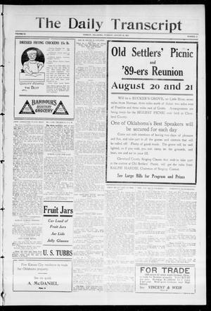 Primary view of object titled 'The Daily Transcript  (Norman, Okla.), Vol. 3, No. 55, Ed. 1 Monday, August 16, 1915'.