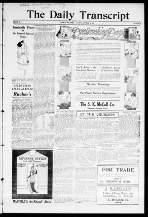 Primary view of object titled 'The Daily Transcript  (Norman, Okla.), Vol. 3, No. 94, Ed. 1 Saturday, October 16, 1915'.
