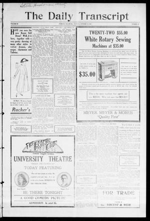 The Daily Transcript  (Norman, Okla.), Vol. 3, No. 95, Ed. 1 Monday, October 18, 1915