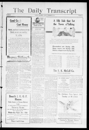 The Daily Transcript  (Norman, Okla.), Vol. 3, No. 134, Ed. 1 Tuesday, December 14, 1915