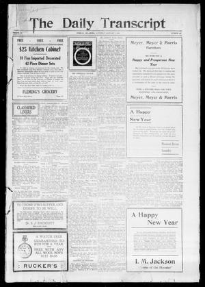 Primary view of object titled 'The Daily Transcript  (Norman, Okla.), Vol. 3, No. 147, Ed. 1 Sunday, January 2, 1916'.
