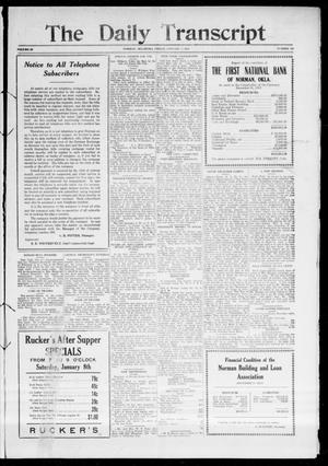 Primary view of object titled 'The Daily Transcript  (Norman, Okla.), Vol. 3, No. 151, Ed. 1 Saturday, January 8, 1916'.