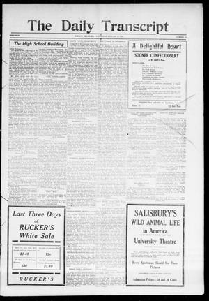 Primary view of object titled 'The Daily Transcript  (Norman, Okla.), Vol. 3, No. 166, Ed. 1 Thursday, January 27, 1916'.