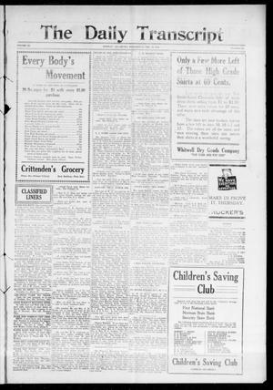 Primary view of object titled 'The Daily Transcript  (Norman, Okla.), Vol. 3, No. 181, Ed. 1 Thursday, February 17, 1916'.