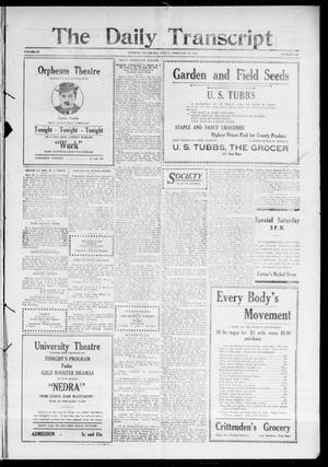 Primary view of object titled 'The Daily Transcript  (Norman, Okla.), Vol. 3, No. 182, Ed. 1 Saturday, February 19, 1916'.