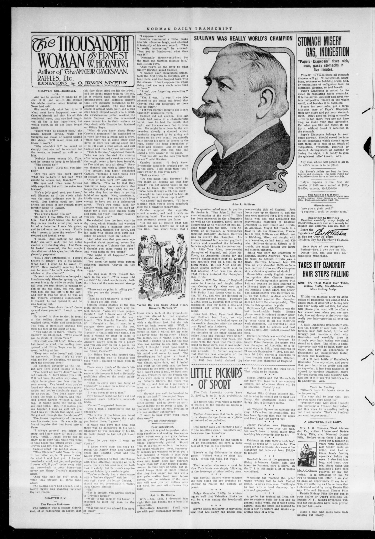 The Daily Transcript  (Norman, Okla.), Vol. 3, No. 186, Ed. 1 Thursday, February 24, 1916                                                                                                      [Sequence #]: 2 of 4