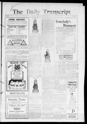 The Daily Transcript  (Norman, Okla.), Vol. 3, No. 191, Ed. 1 Thursday, March 2, 1916