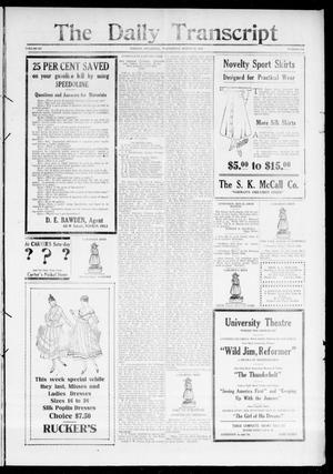 Primary view of object titled 'The Daily Transcript  (Norman, Okla.), Vol. 3, No. 206, Ed. 1 Thursday, March 23, 1916'.