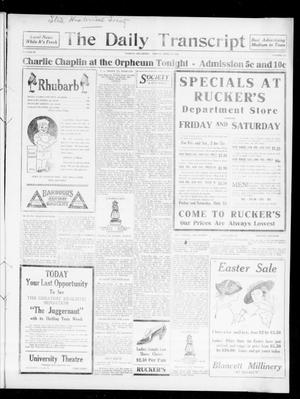 Primary view of object titled 'The Daily Transcript  (Norman, Okla.), Vol. 3, No. 222, Ed. 1 Saturday, April 15, 1916'.