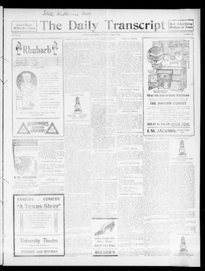 Primary view of object titled 'The Daily Transcript  (Norman, Okla.), Vol. 3, No. 223, Ed. 1 Sunday, April 16, 1916'.