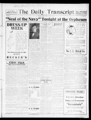 Primary view of object titled 'The Daily Transcript  (Norman, Okla.), Vol. 3, No. 225, Ed. 1 Wednesday, April 19, 1916'.