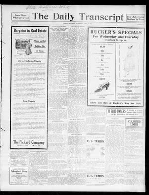 Primary view of object titled 'The Daily Transcript  (Norman, Okla.), Vol. 3, No. 231, Ed. 1 Thursday, April 27, 1916'.
