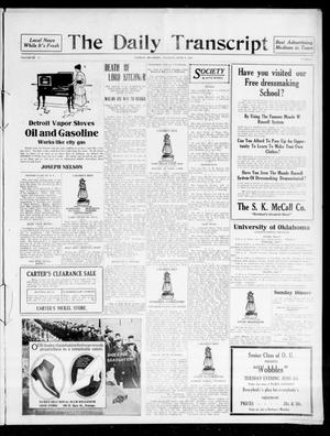 Primary view of object titled 'The Daily Transcript  (Norman, Okla.), Vol. 4, No. 4, Ed. 1 Wednesday, June 7, 1916'.