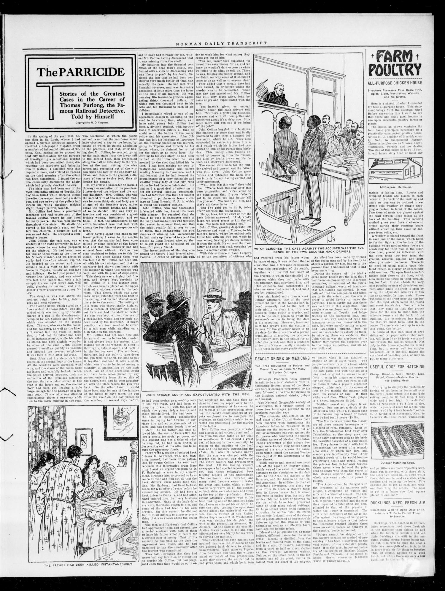 The Daily Transcript  (Norman, Okla.), Vol. 4, No. 13, Ed. 1 Tuesday, June 20, 1916                                                                                                      [Sequence #]: 3 of 4