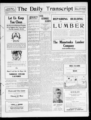 The Daily Transcript  (Norman, Okla.), Vol. 4, No. 25, Ed. 1 Thursday, July 6, 1916