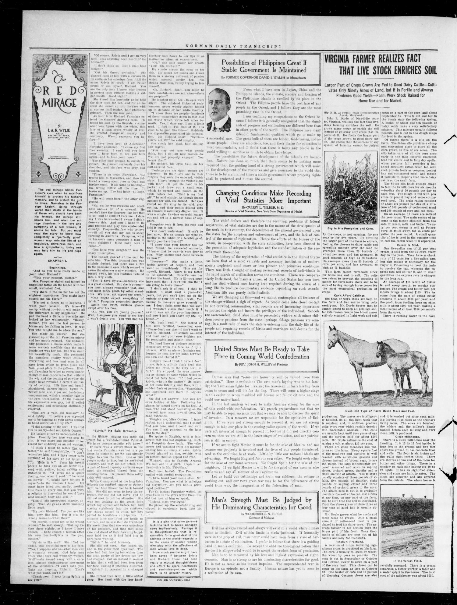 The Daily Transcript  (Norman, Okla.), Vol. 4, No. 65, Ed. 1 Wednesday, August 30, 1916                                                                                                      [Sequence #]: 2 of 4