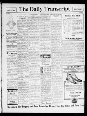 Primary view of object titled 'The Daily Transcript  (Norman, Okla.), Vol. 4, No. 99, Ed. 1 Tuesday, October 17, 1916'.