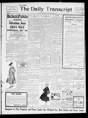 Primary view of object titled 'The Daily Transcript  (Norman, Okla.), Vol. 4, No. 133, Ed. 1 Tuesday, December 5, 1916'.